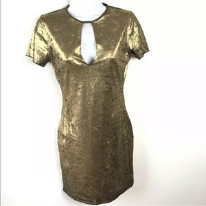 Forever 21 Dress S Metallic Gold Sexy Cocktail